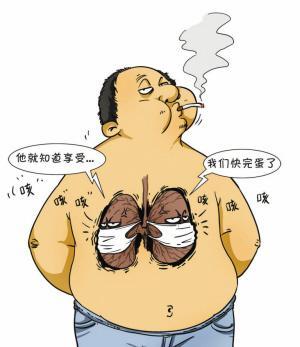 戒烟20分钟后:随着戒烟后身体里尼古丁含量的降低,全身的循环系统图片
