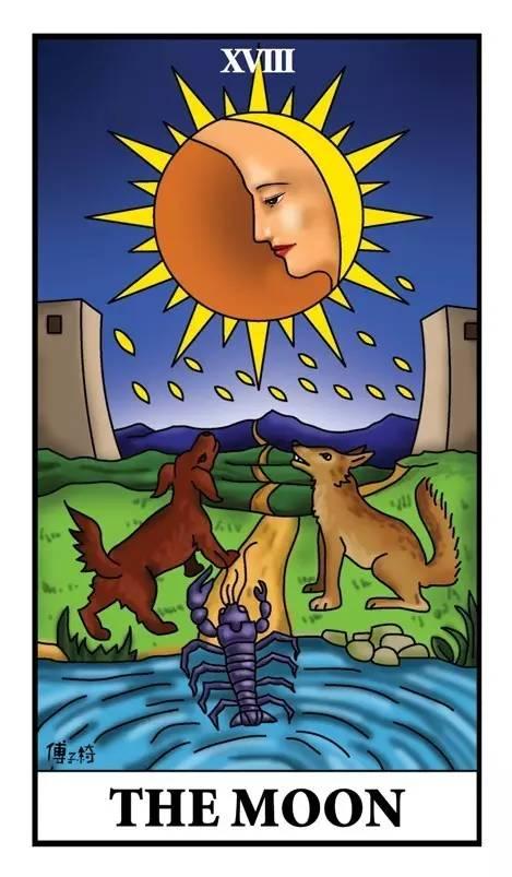 【塔罗牌教学】第十八张牌:「月亮牌」