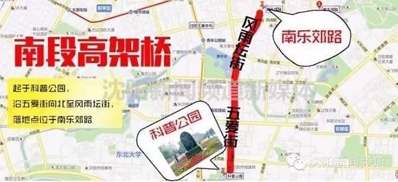 沈阳南北快速干道高架桥段8月可通车!图片
