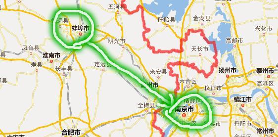 上海无锡南京地图