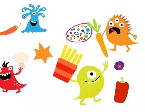 卡通细菌简笔画