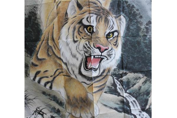 壁纸 动物 国画 虎 老虎