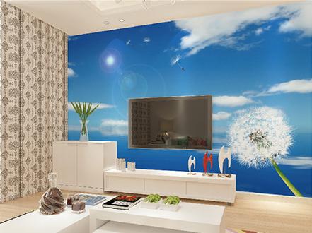 天洋墙布电视背景墙装修效果图