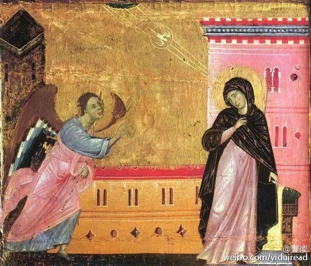 △中世纪宗教绘画中的女性,身体被衣物包裹紧密,不过老司机应该图片
