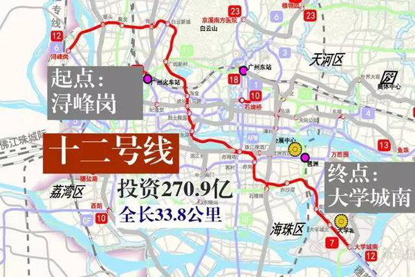 广州地铁规划又有新改动,7号线 21号线终点站可能就在你家门口