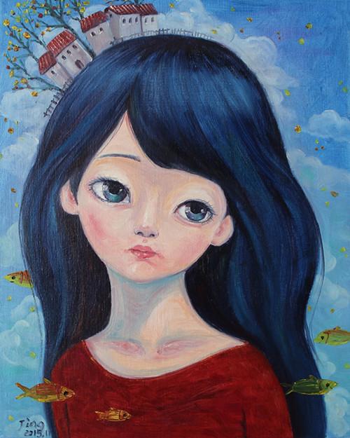 情侣皇冠手绘图