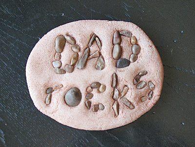 石头粘贴画