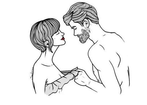 男生 衬衣 侧面 手绘