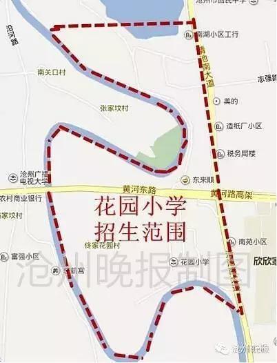 沧州市区小学招生划片地图来了,看你家孩子上哪所