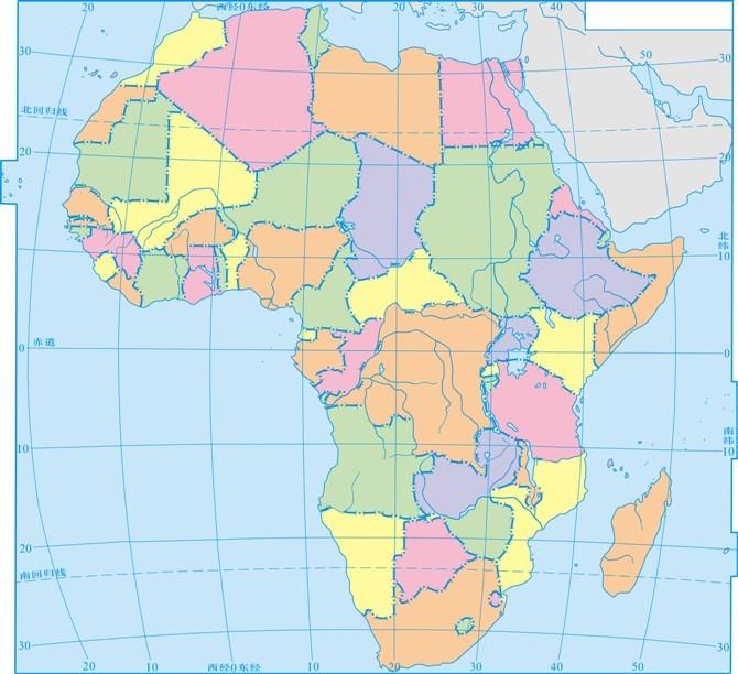 收藏版|超级棒的区域彩色世界地理底图惯性力高中图片