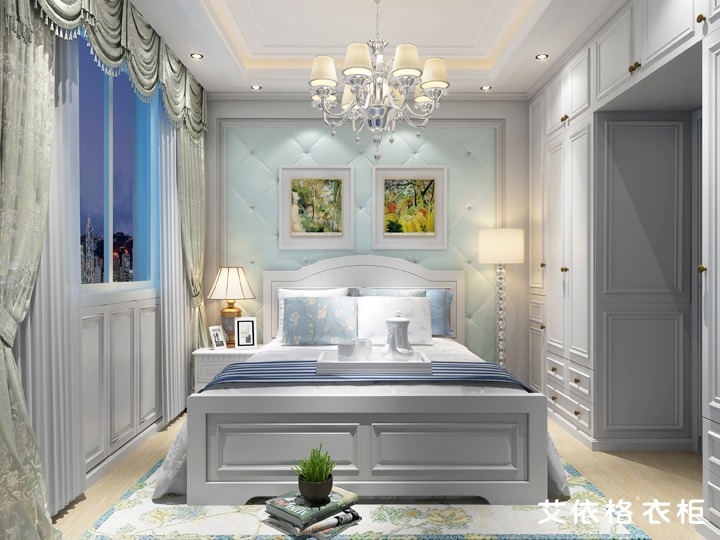 白色欧式5房天使般的装修设计