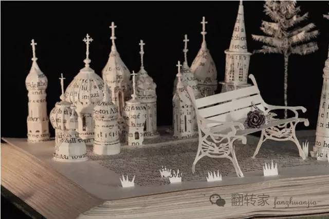 纸雕制作图解建筑