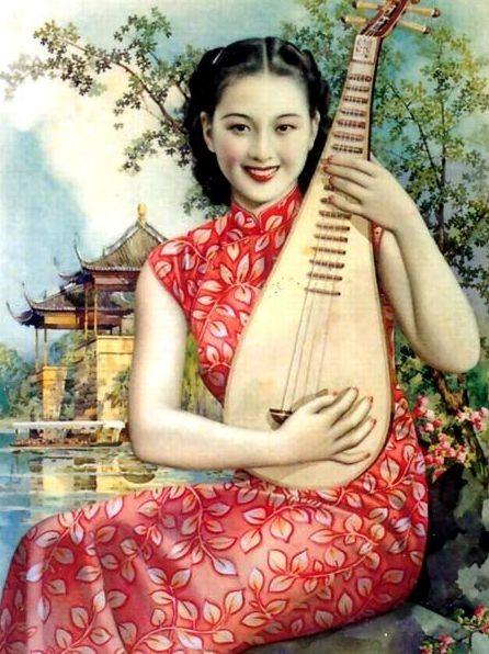 20年代中国年画美女集