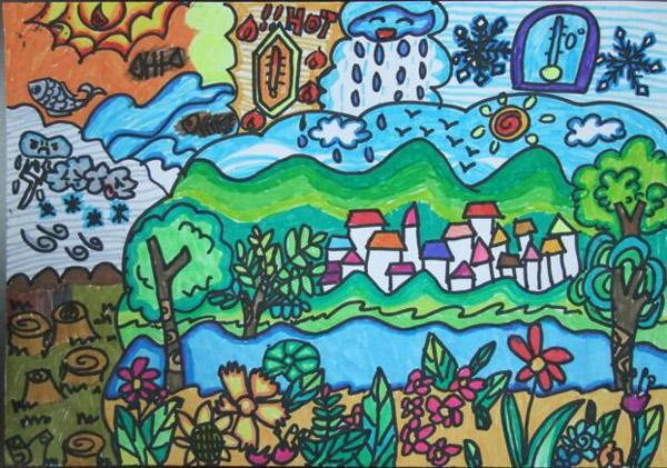 宝贝画天气:儿童眼中的天气气候与未来世界图片
