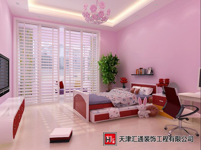 公主神话般卧室婚房布置装修效果实景图