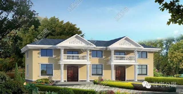是一栋经济型别墅,外观按照简欧的风格进行自建,罗马柱,阳台,坡屋顶
