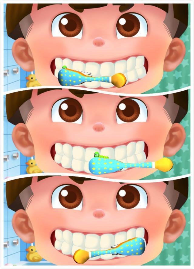 第一步:一开始先刷牙齿外侧,左中右都要覆盖到!