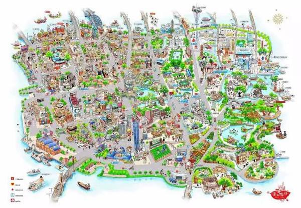 中大新华手绘地图