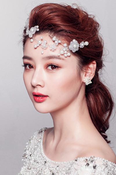 新娘早妆韩式新娘发型教程指南图片