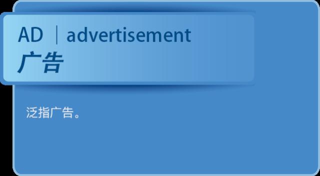 那些社交广告中高逼格的英文简写是什么意思