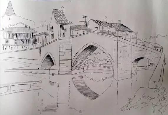高年级简笔画-雨花 我心目中的桥 绘画大赛作品赏析SHOW