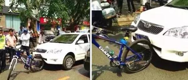 """昨天,寮步发生史上最""""尴尬""""车祸!日产vs自行车,结果"""