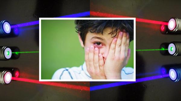 显示 网购儿童激光笔伤害视力图片