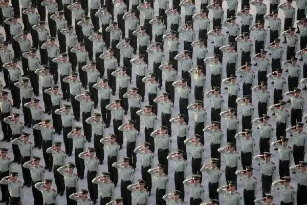 军人团体照