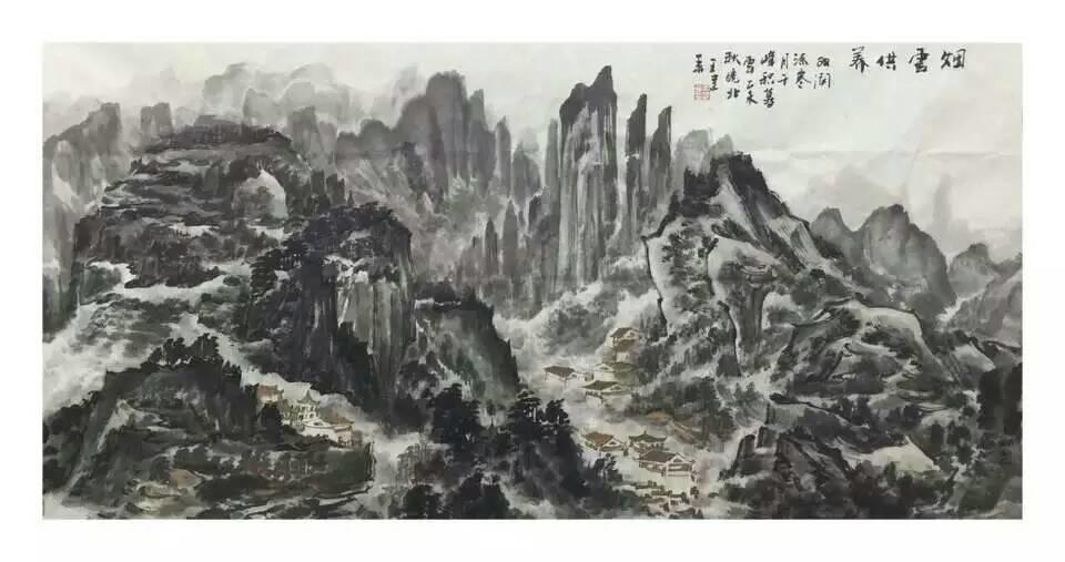安徽当代实力派山水画家王建华绘画作品欣赏图片