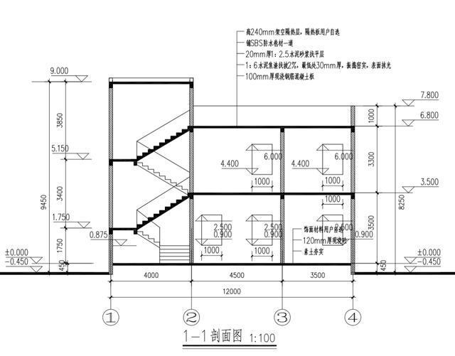 12米x10米农村自建房户型