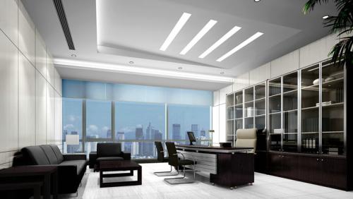 欧式办公室装修风格效果图