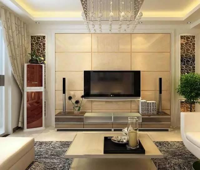 石材电视背景墙装修效果图图片