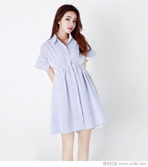 一件衬衫裙的N种穿法:衬衫裙穿不腻的单品