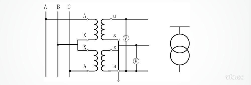 电压互感器接线图及方式图片