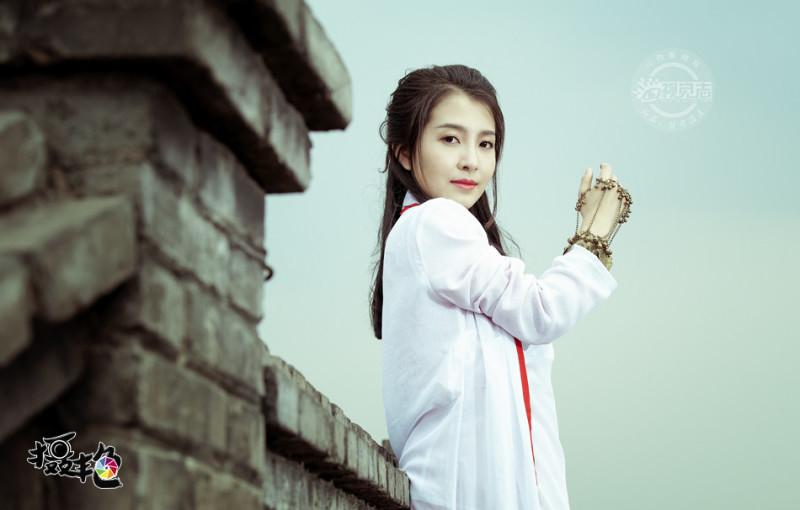 """山西女孩扮""""紫霞仙子""""致敬大话西游"""