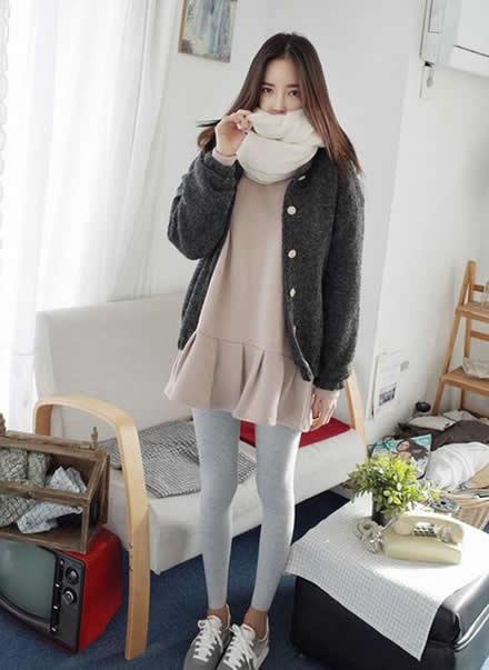 冬季韩版女装搭配示范休闲简约又时尚