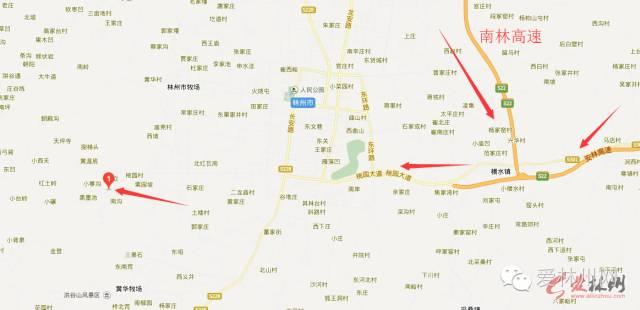 河南省林州市规划图
