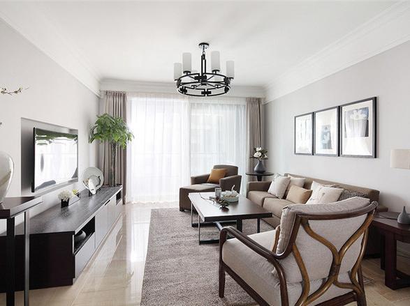 145㎡三室二厅简约北欧风格装修设计家图片