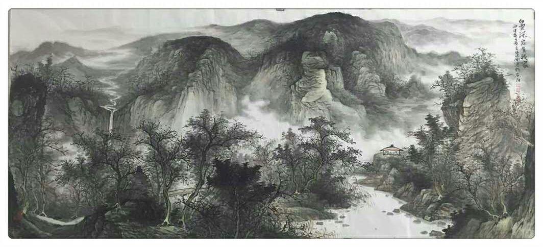 安徽著名国画家周逢刚山水画作品欣赏图片