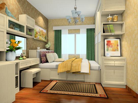这一款英伦印象12㎡卧室装修效果图,设计师采用了具有典型怀旧表现力图片