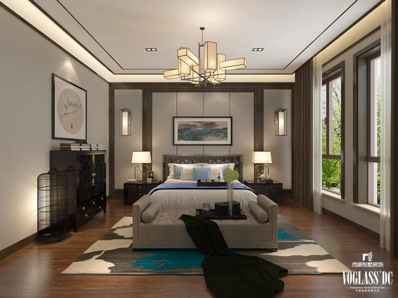 卧室的床头挂画与地毯遥相呼应.图片