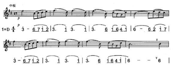 笛子简5初学曲谱