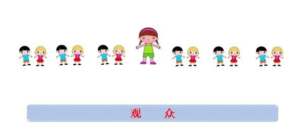 同视频舞蹈动作,教师要和幼儿有眼神互动