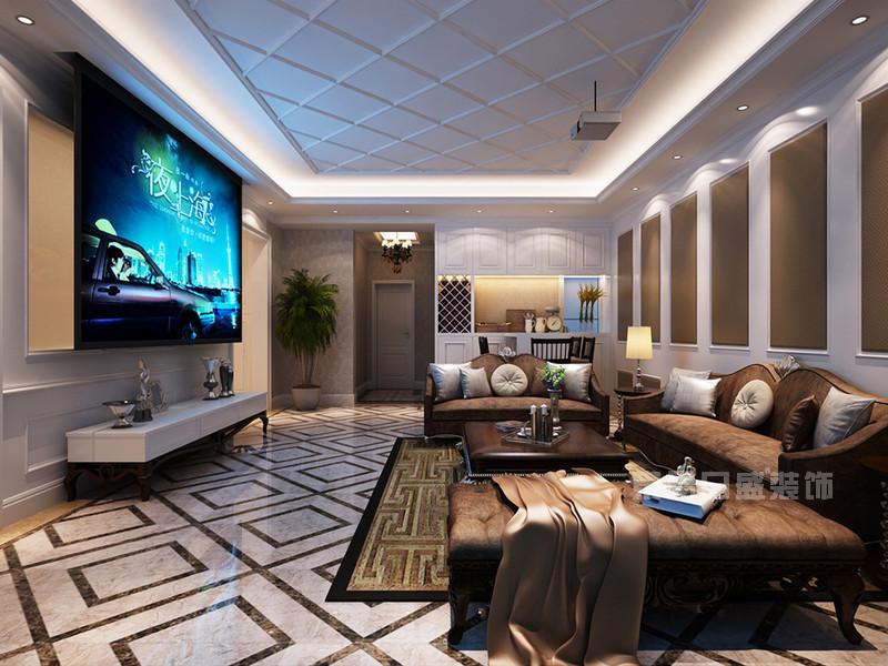 西安欧式别墅客厅装修效果图精品推荐
