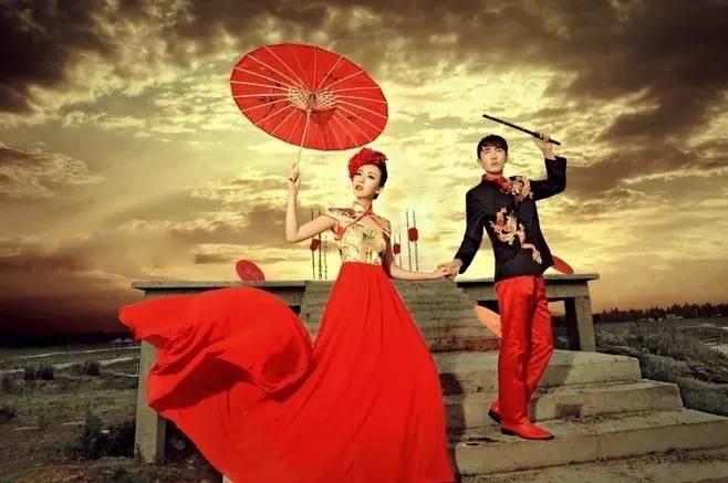 复古中式婚纱照,领略古典美的魅力.图片