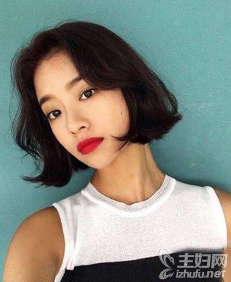 9款2016年流行短发v短发照着剪更美更有气质h短发女生无刘海图片