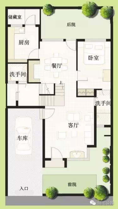 农村盖房子设计图,10米宽13米长,怎么设计?要2个卧室图片