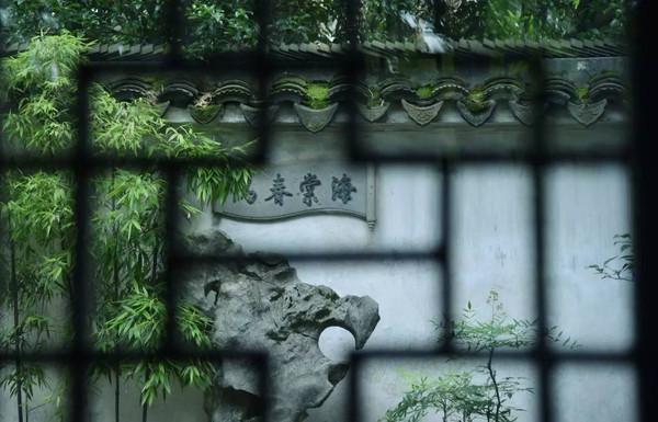 拍摄于拙政园内的海棠春坞内.