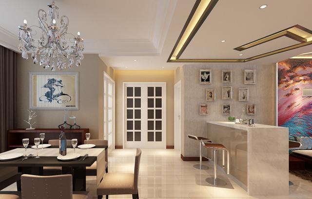 客厅吧台的隔断设计,在家也能身处酒吧图片