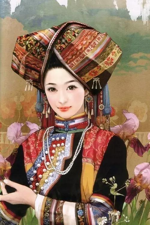 云南25个少数民族手绘美女,全云南都在看